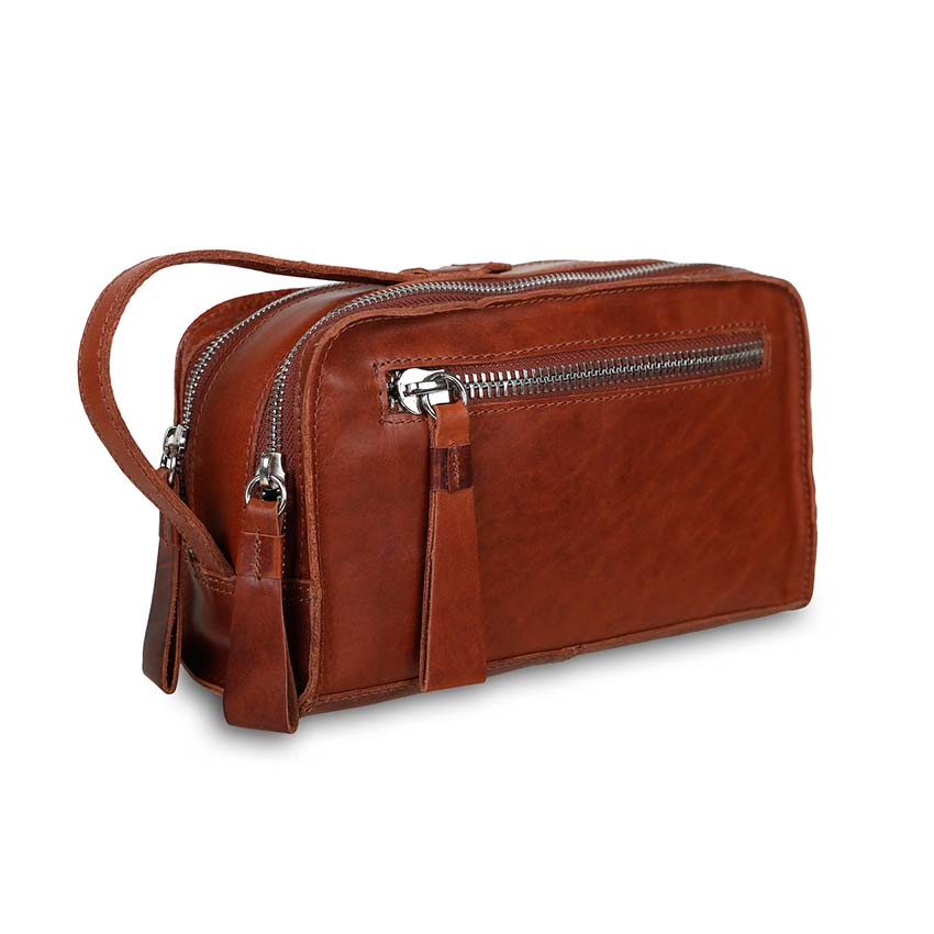 c7a59e365360 Несессер Ashwood Leather Luxury Wash Bag Seb Vintage Tan