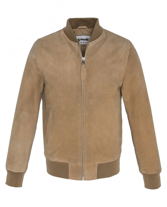 Куртка SCHOTT LC300 Velvet Leather Bomber Jacket