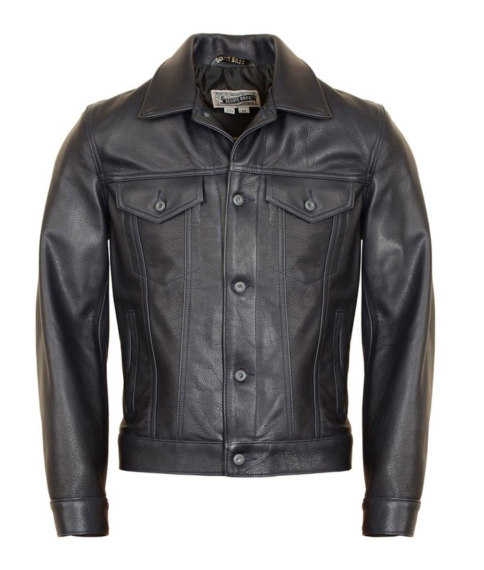 Куртка SCHOTT Soft Pebbled Cowhide Leather Jean Jacket