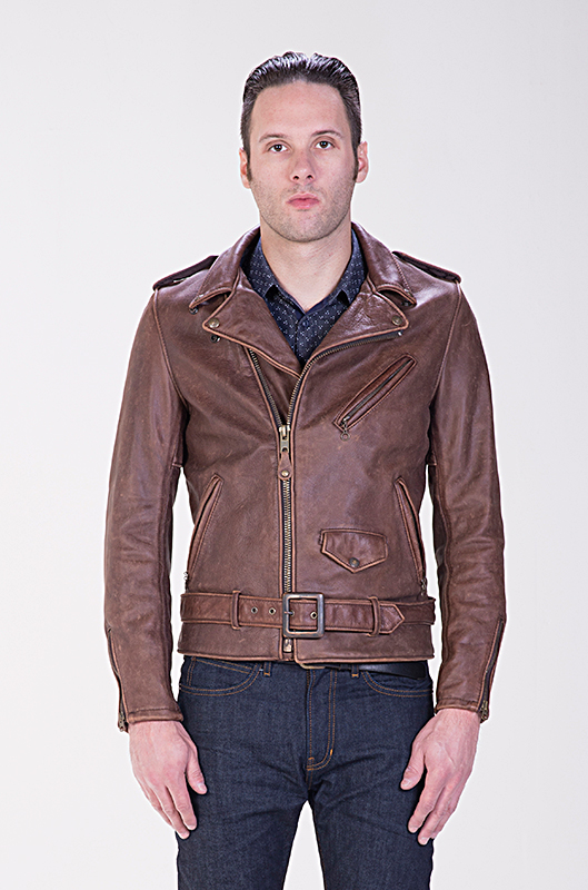 Куртка косуха SCHOTT 626 Vintaged Fitted Cowhide Leather Motorcycle Jacket