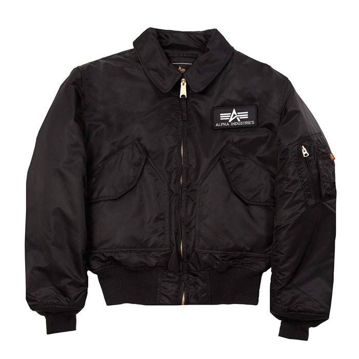 Куртка ALPHA INDUSTRIES CWU 45 FLIGHT JACKET BLACK