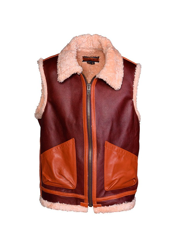 Жилет SCHOTT P267V Men's Leather Vest