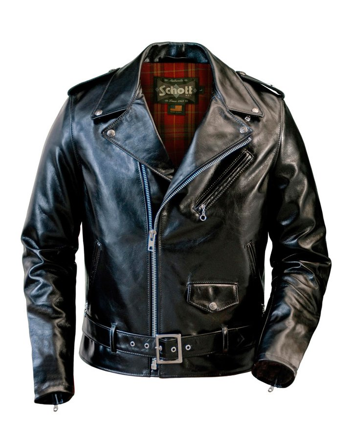 Куртка косуха SCHOTT 626 Lightweight Fitted Cowhide Motorcycle Jacket Black