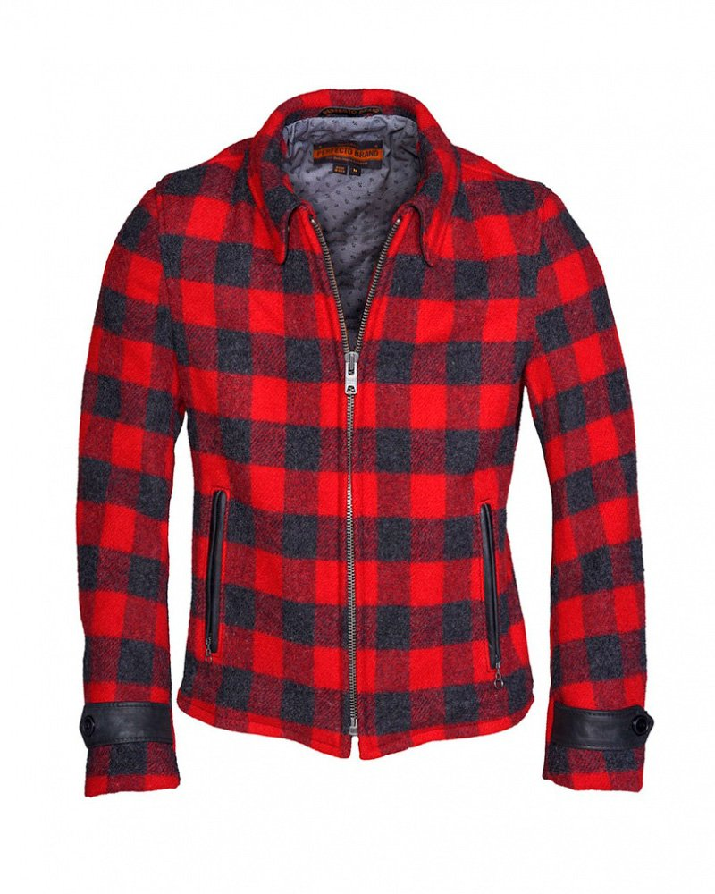 Куртка SCHOTT P731 Rendezvous - Men's Plaid Wool Jacket
