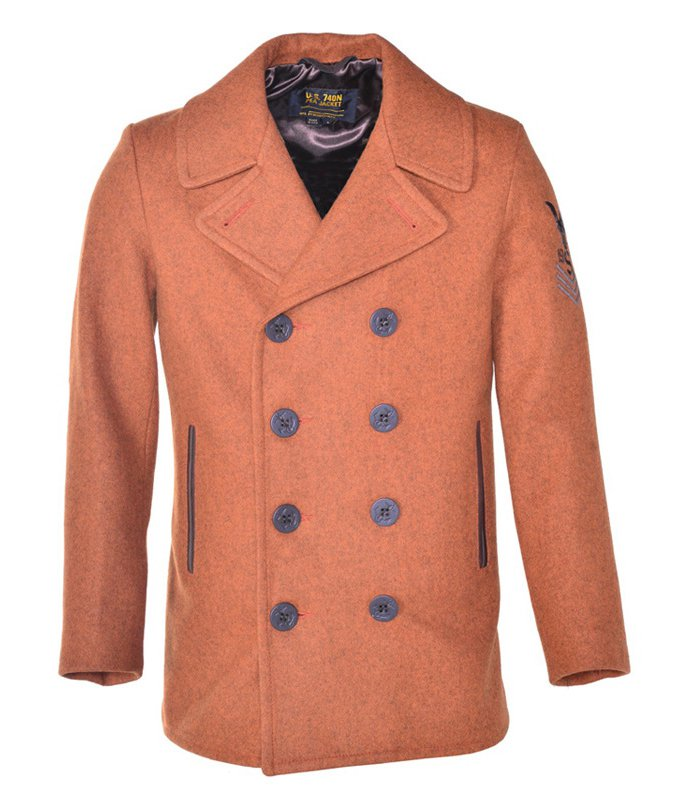 Бушлат SCHOTT Mens Heathered Wool Peacoat