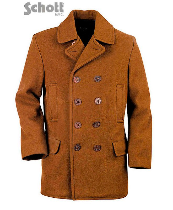 Бушлат SCHOTT Men's Slim Fitting Wool Pea Coat